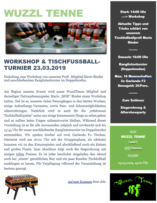 Wuzzl Tenne 2019 03 23 Workshop